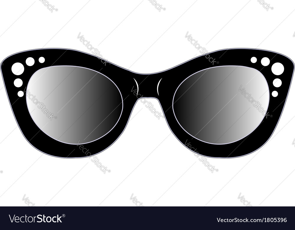 Vintage cat eye eyewear for ladies vector   Price: 1 Credit (USD $1)