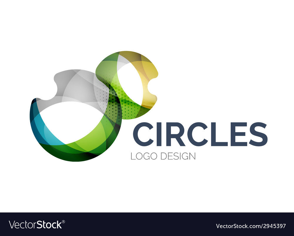 Abstract bubbles logo design made of color pieces vector | Price: 1 Credit (USD $1)