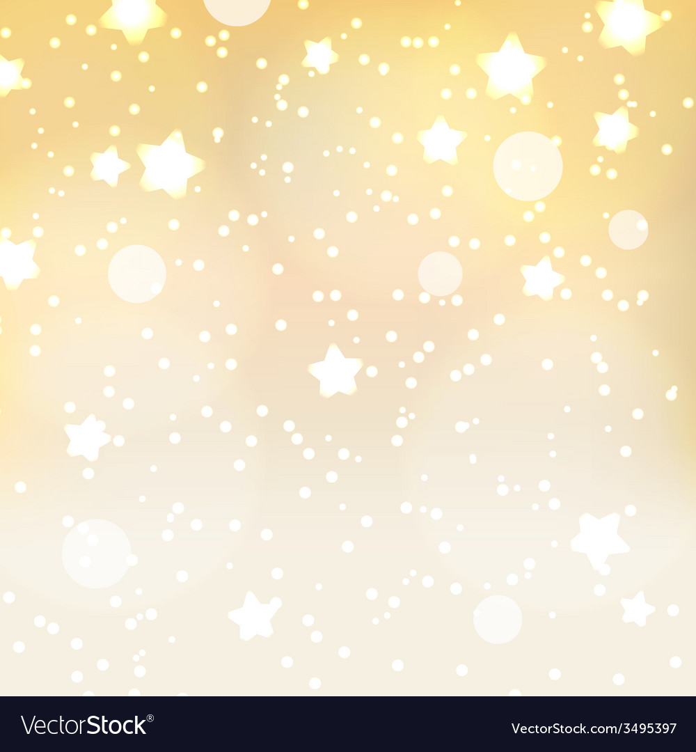 Abstract yellow dots and stars bokeh background vector | Price: 1 Credit (USD $1)
