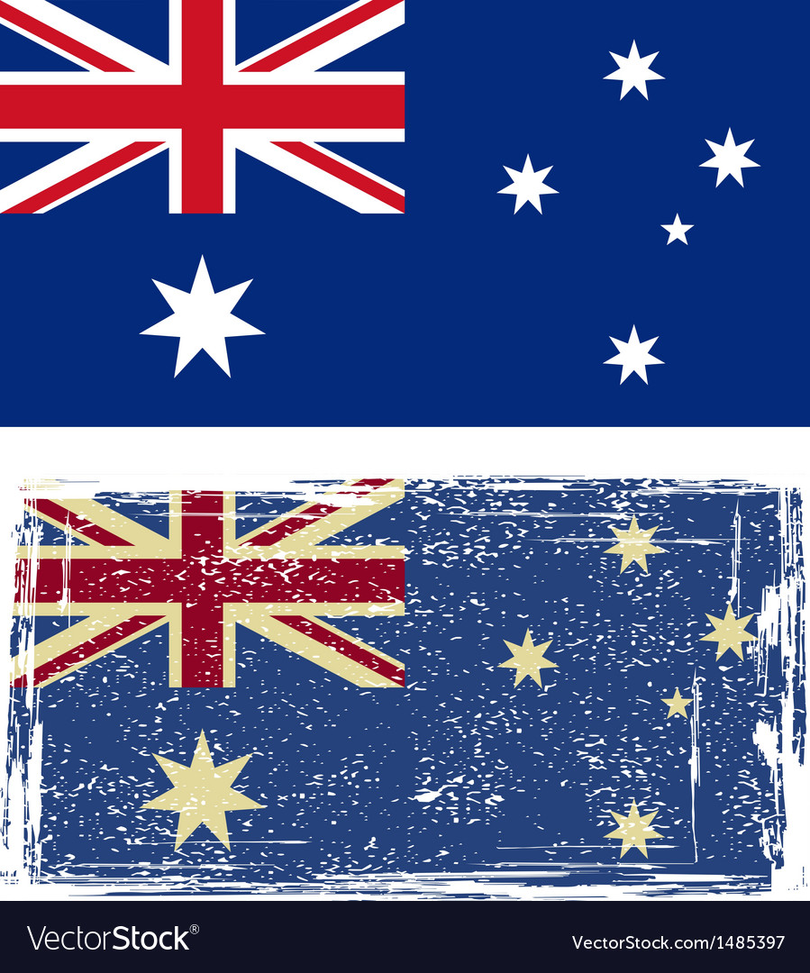 Australian grunge flag vector | Price: 1 Credit (USD $1)