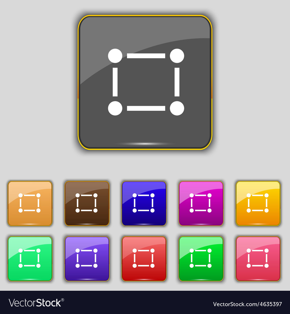 Crops and registration marks icon sign set with vector | Price: 1 Credit (USD $1)