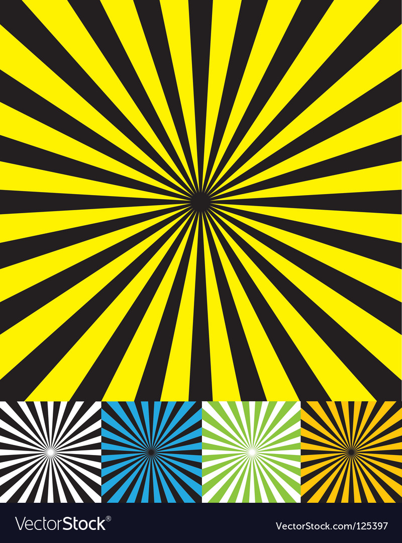 Funky retro background set cmyk vector