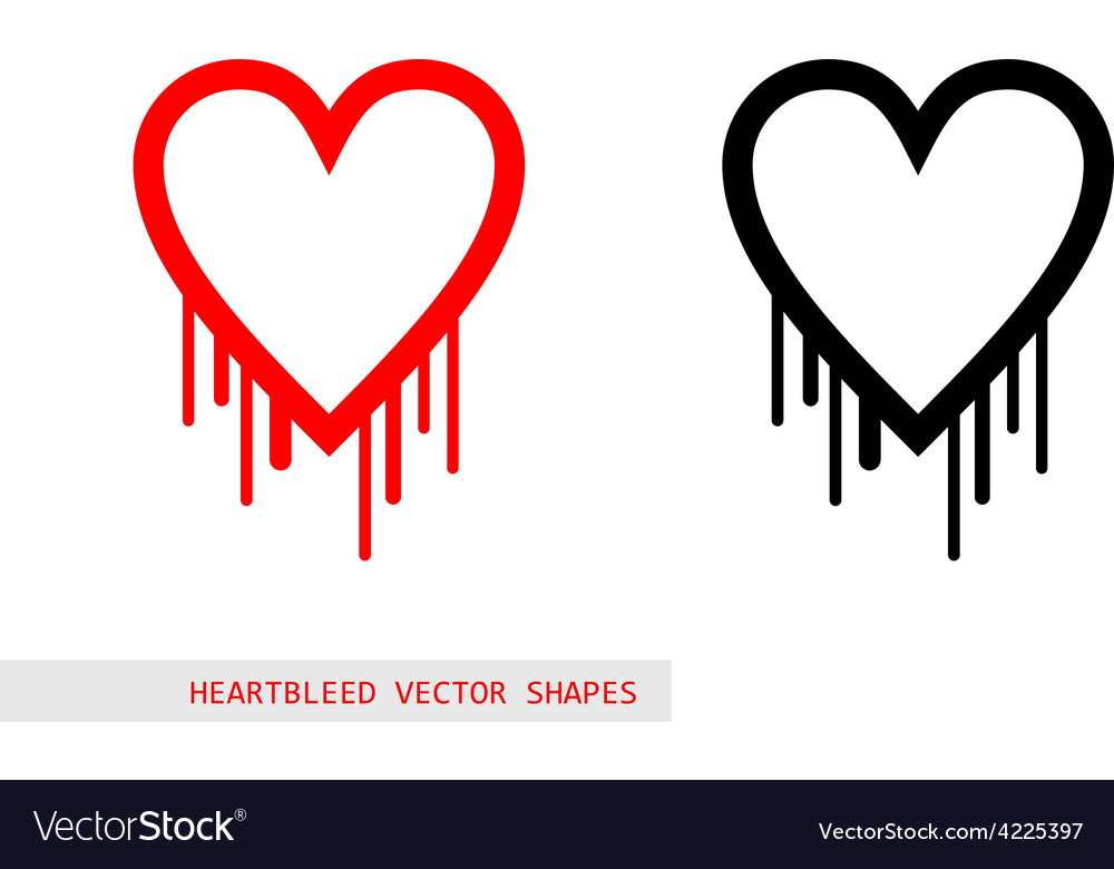 Heartbleed openssl bug shape vector | Price: 1 Credit (USD $1)