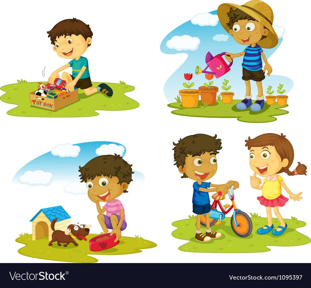 Kids vector | Price: 3 Credit (USD $3)
