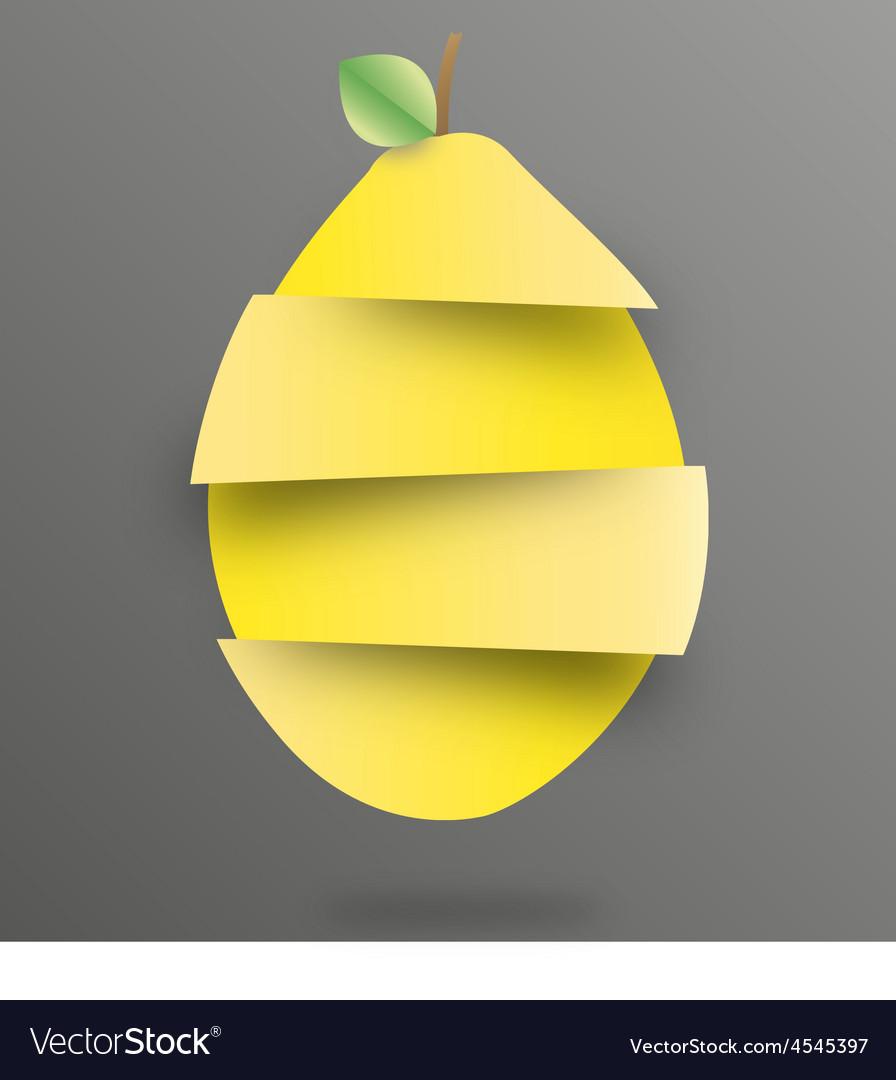 Lemon sliced vector | Price: 3 Credit (USD $3)