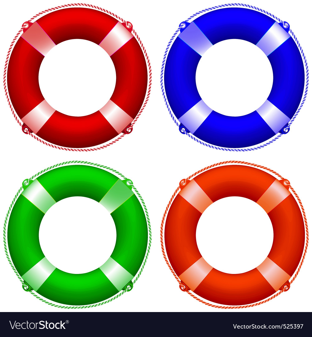 Life buoy collection vector | Price: 3 Credit (USD $3)