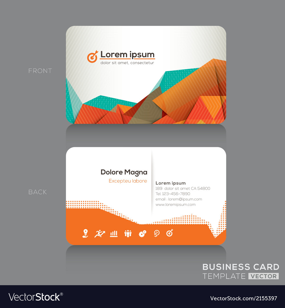 Modern abstract business cards design template vector | Price: 1 Credit (USD $1)
