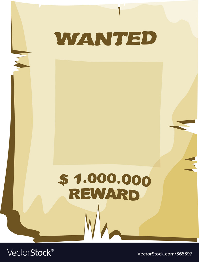 Wanted vector | Price: 1 Credit (USD $1)