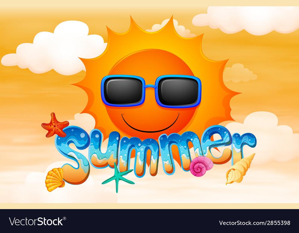 A summer artwork vector | Price: 1 Credit (USD $1)