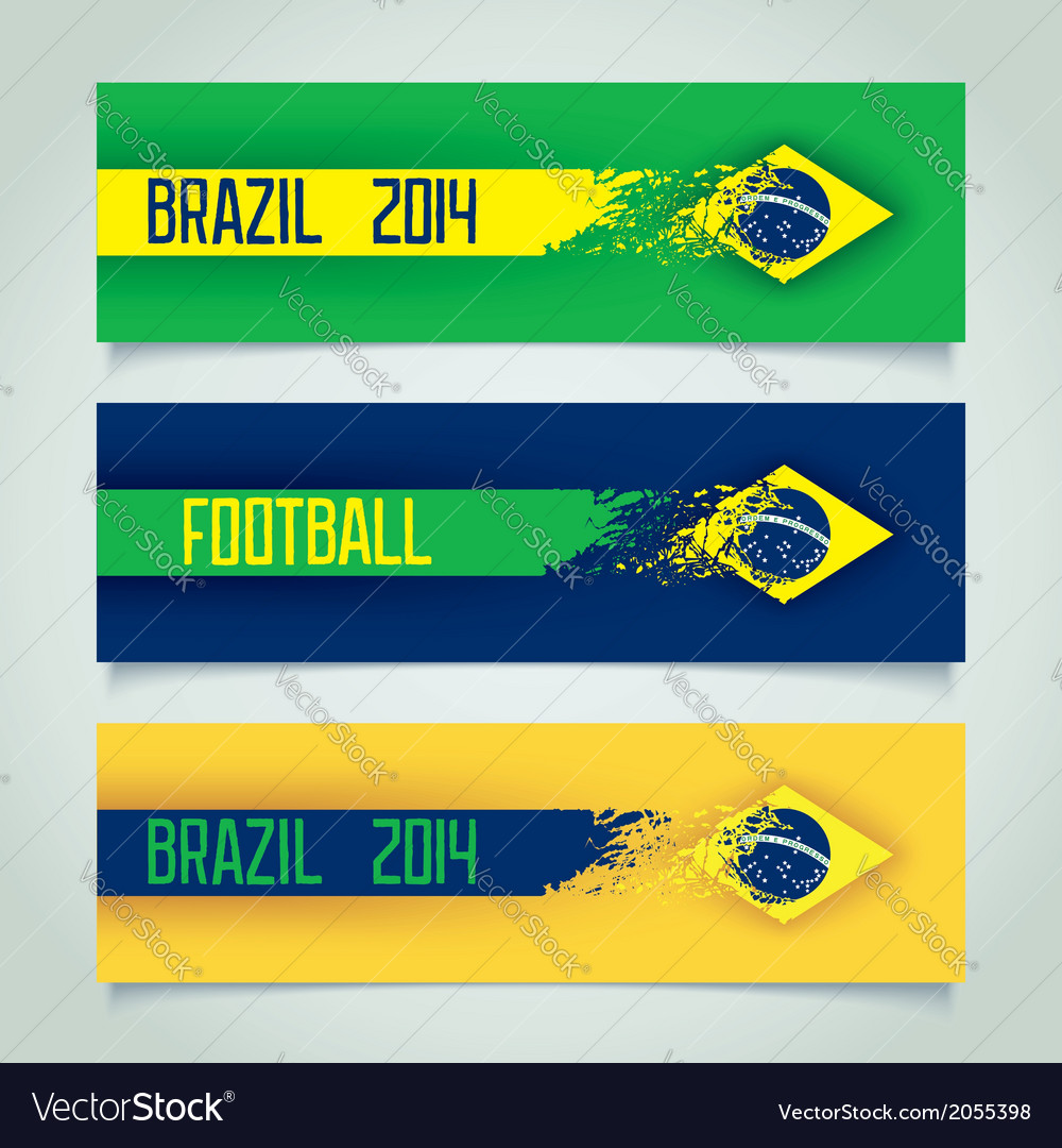 Brazilian design banners vector | Price: 1 Credit (USD $1)