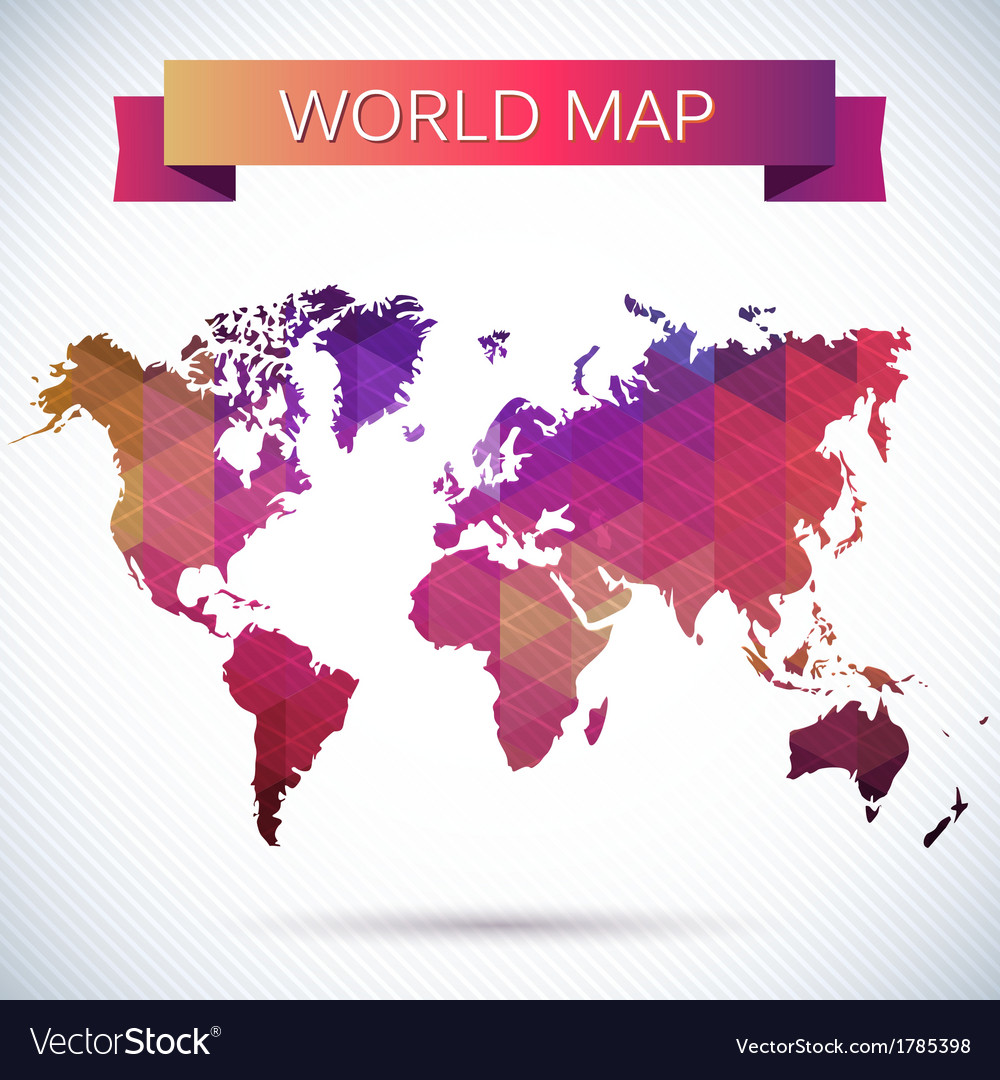 Bright map of the globe vector | Price: 1 Credit (USD $1)