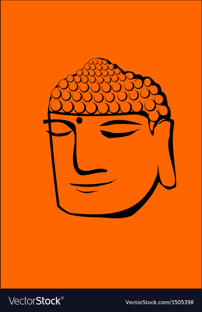 Buddha head vector | Price: 1 Credit (USD $1)