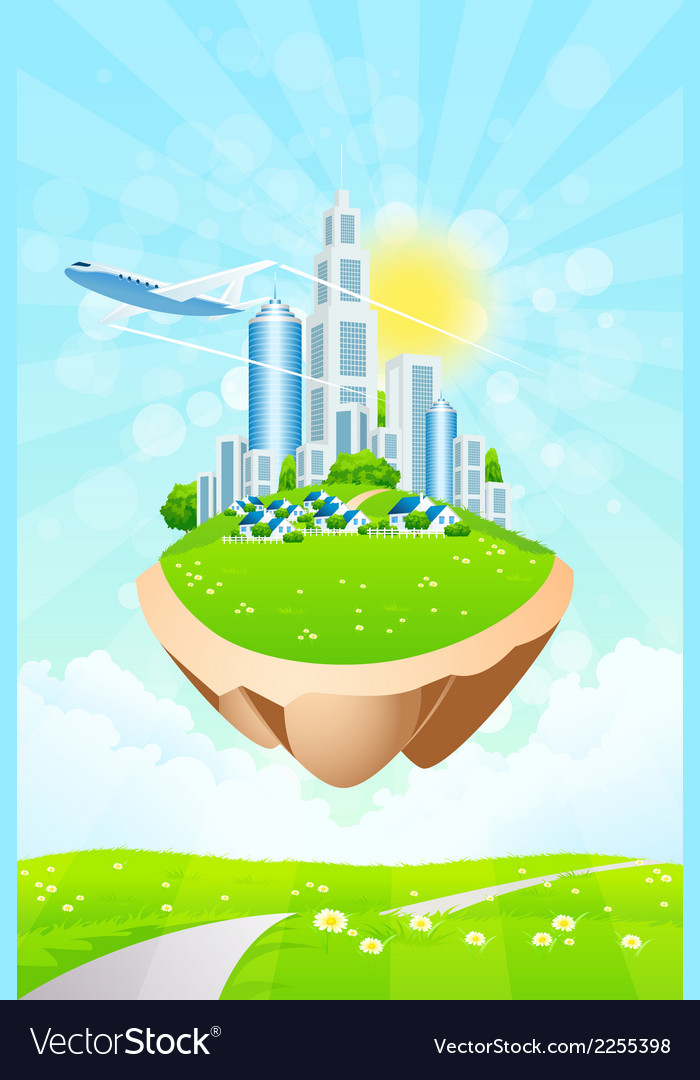 Business city vector | Price: 3 Credit (USD $3)