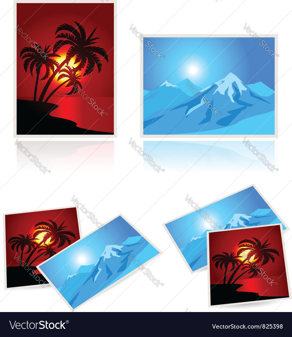 Pictures from vacation vector | Price: 1 Credit (USD $1)