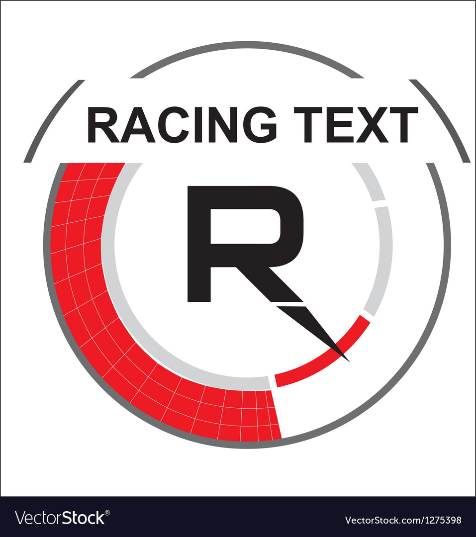 Racing emblem with a place for text vector   Price: 1 Credit (USD $1)