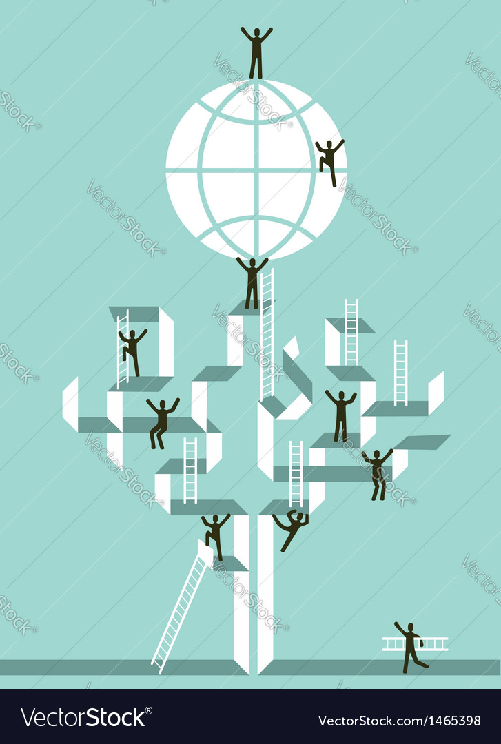 Stairway to business global success vector | Price: 1 Credit (USD $1)
