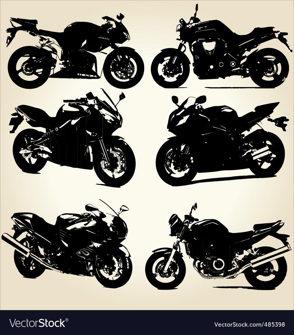 Super bikes silhouettes vector | Price: 1 Credit (USD $1)