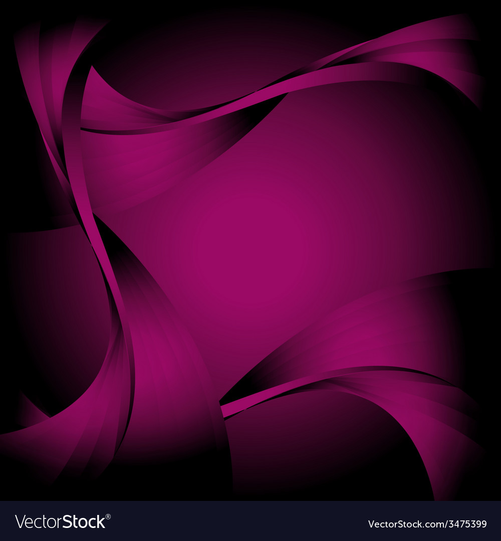 Abstract curve dark violet background vector | Price: 1 Credit (USD $1)