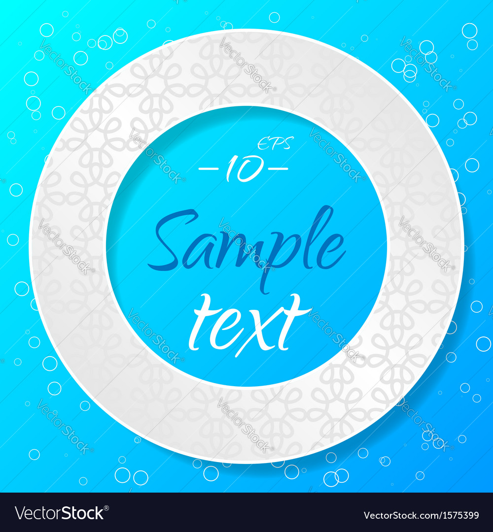Applique background with textured circle vector | Price: 1 Credit (USD $1)