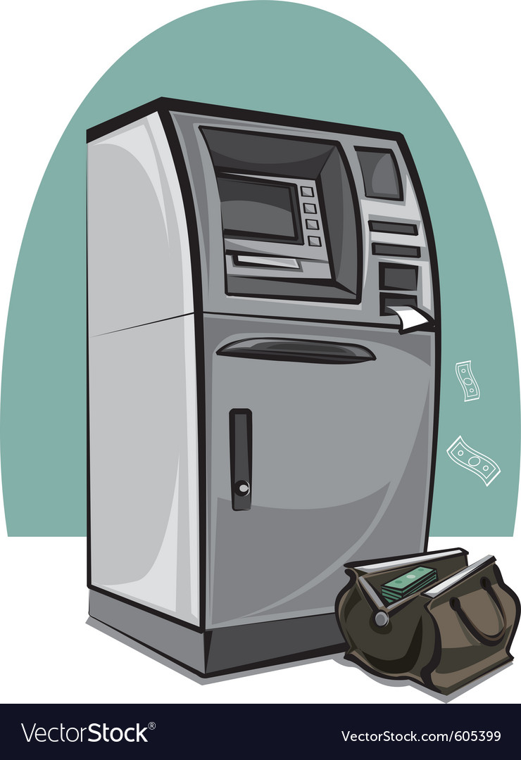 Atm cash machine vector | Price: 3 Credit (USD $3)