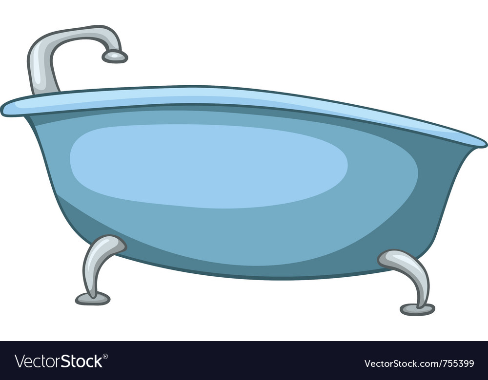 Cartoon home washroom tub vector | Price: 1 Credit (USD $1)