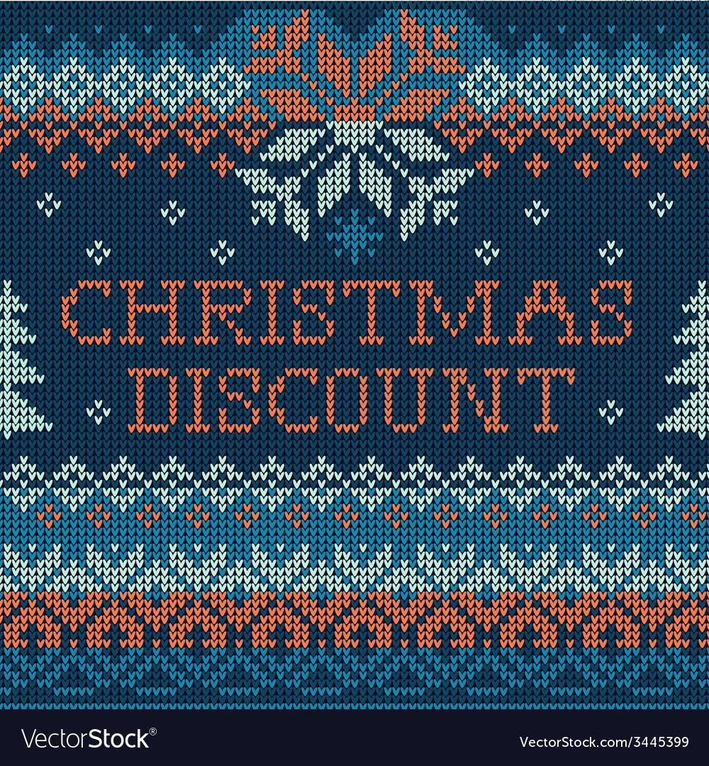 Christmas discount scandinavian style seamless vector | Price: 1 Credit (USD $1)