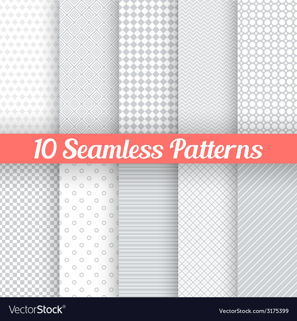 Light grey seamless patterns for universal vector | Price: 1 Credit (USD $1)