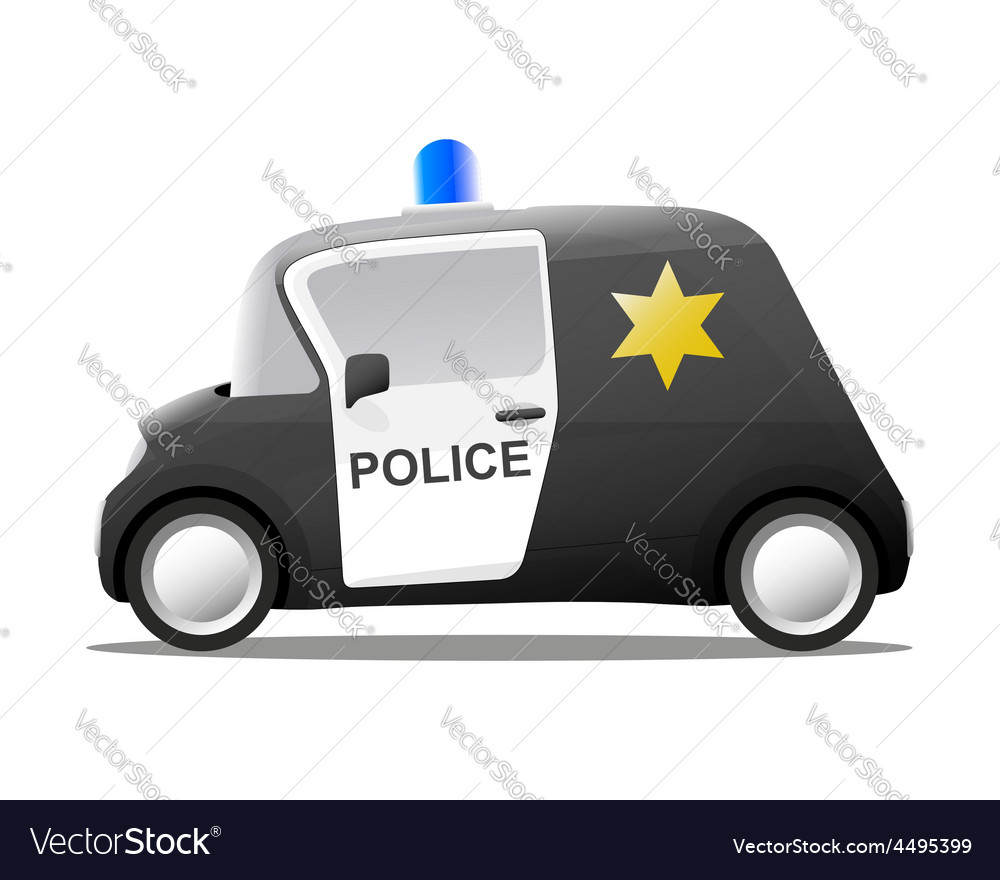 Mini cartoon sheriff police car vector | Price: 1 Credit (USD $1)
