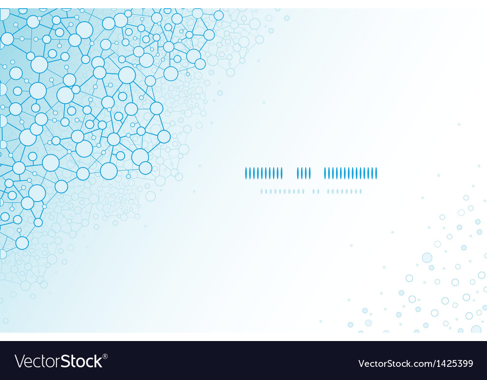 Molecular structure scientific horizontal template vector | Price: 1 Credit (USD $1)