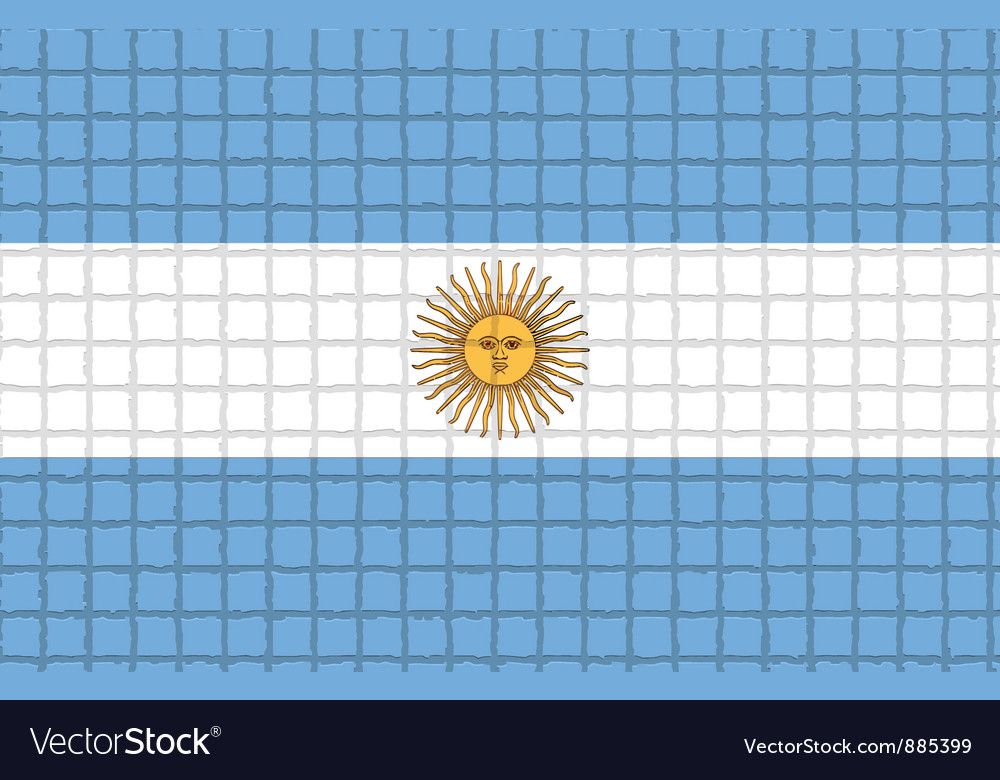 The mosaic flag of argentina vector | Price: 1 Credit (USD $1)