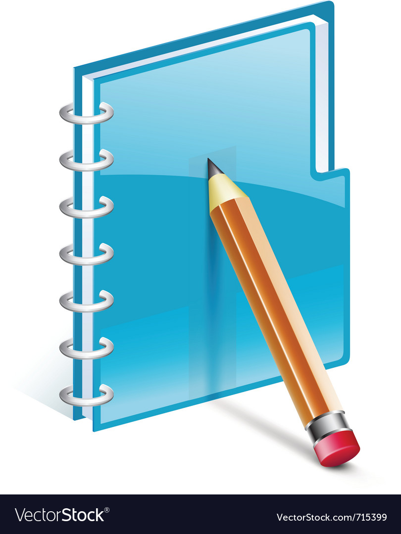 Notepad with pencil vector | Price: 3 Credit (USD $3)