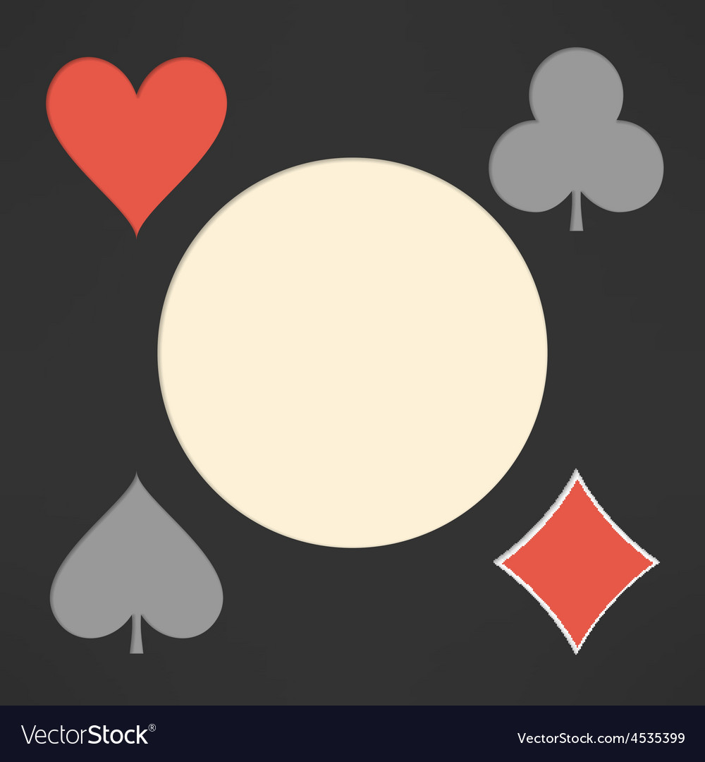 Playing cards suits background with copyspace vector | Price: 1 Credit (USD $1)