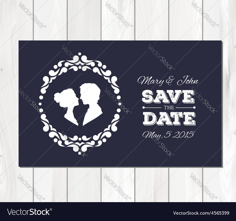 Save the date wedding invitation with vector | Price: 1 Credit (USD $1)
