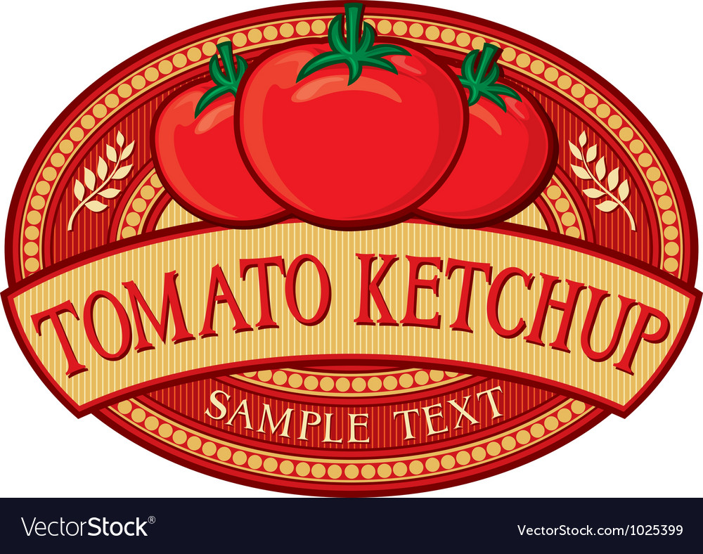Tomato ketchup label vector | Price: 3 Credit (USD $3)