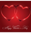 Background with two hearts vector