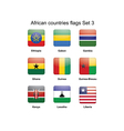 African flags set 3 vector