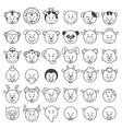 Icon of animal faces vector