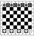 Classic checkers board and checkers vector
