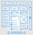 Website design sketch style kit vector