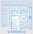 Website design sketch style kit vector