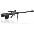 Sniper rifle 01 vector