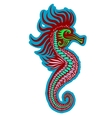 Colorful seahorse vector