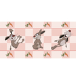 Border for wallpaper with rabbits cartoon vector