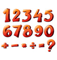 Numbers and mathematical symbols vector