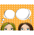 Two girls popup style vector