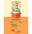 Vegetarian and vegan healthy organic infographic vector