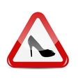 Traffic sign isolated on white background vector