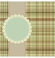 Wallace tartan vintage card background eps 8 vector