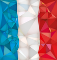 Stylized flag of france low poly style vector