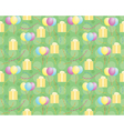 Pattern with presents and balloons vector